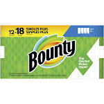 Bounty Select-A-Size Paper Towels White, 12 Giant Rolls