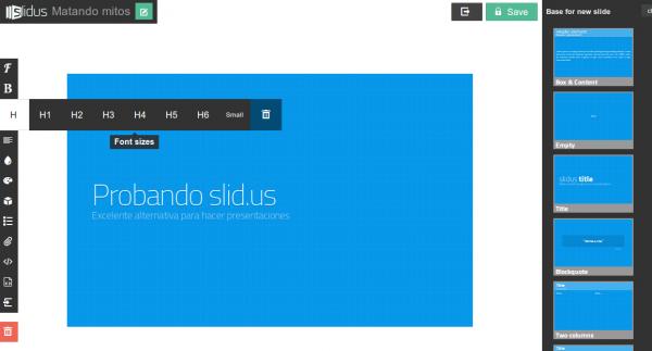 Slid.us, nuevo sistema para hacer presentaciones en la web