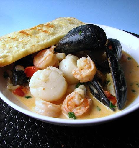 Thai Curry Seafood Bruschetta V