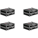 Odyssey ATA Flight Ready Pro DJ Equipment Turntable Transport Case (4 Pack) by VM Express