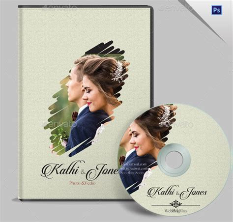 17  Wedding DVD Cover Templates   Free Premium PSD, Files