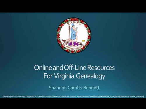 Online and Offline Resources for Virginia Genealogy