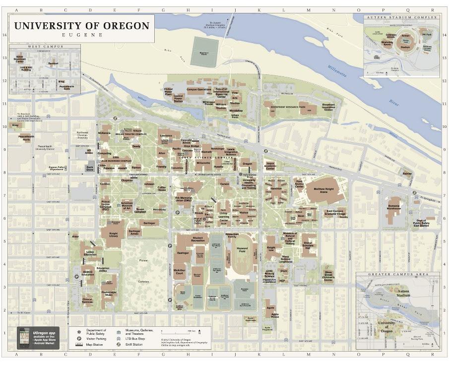 Uo Campus Map - CYNDIIMENNA