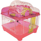 Yml Clear Plastic Dwarf Hamster Mice Cage with Ball on Top Pink