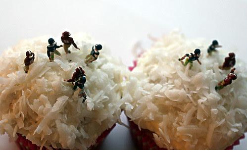 Coconut Snow Bawl Cupcakes