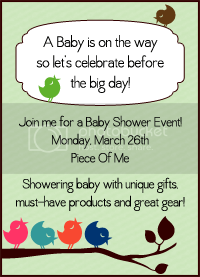 Piece Of Me Baby Shower Event