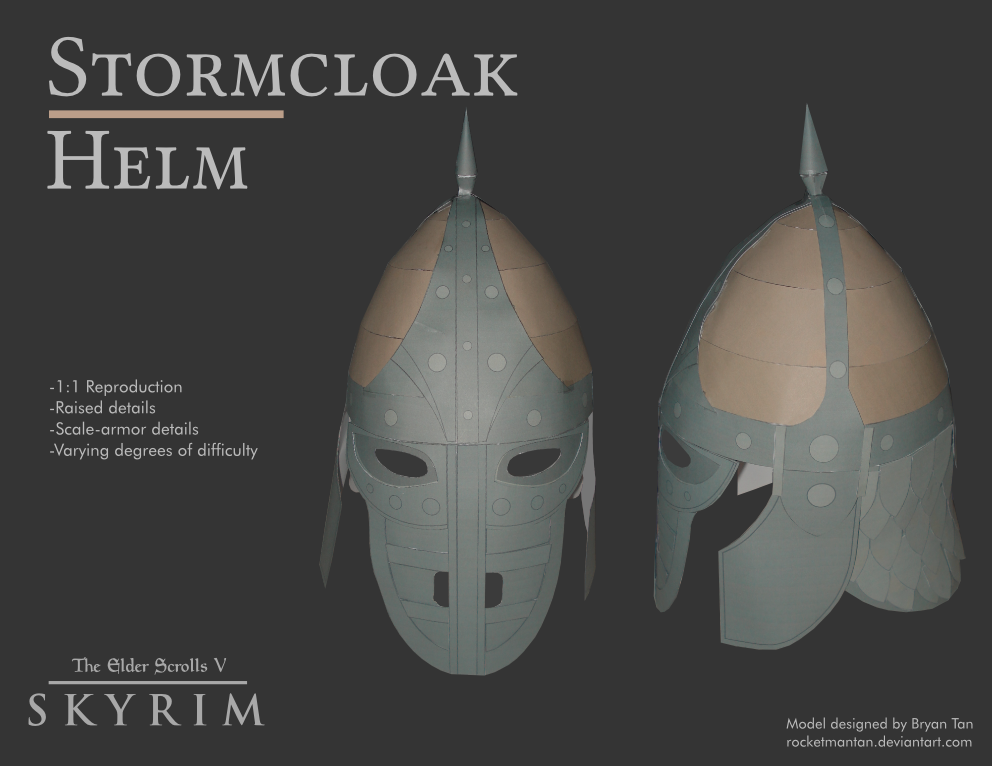 Skyrim - Stormcloack Helmet Papercraft
