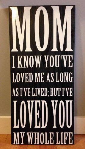 Mom I Know You've Love Me As Long As I've Lived; But I've