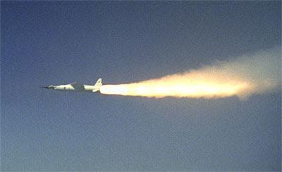 De la NASA X-43A.  (Crédito: NASA)