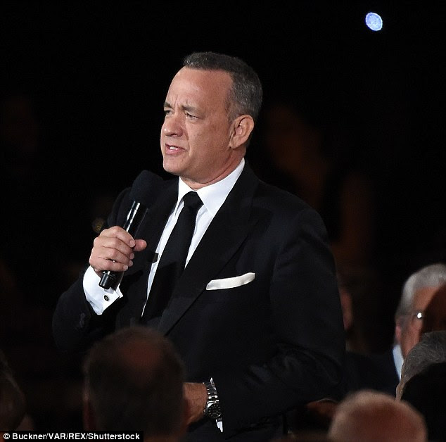 Seal of approval:Tom Hanks also gushed about the native of Hong Kong as he told AFP at the event: 'Jackie Chan has the wisdom of the East and the discipline of a master martial artist.'
