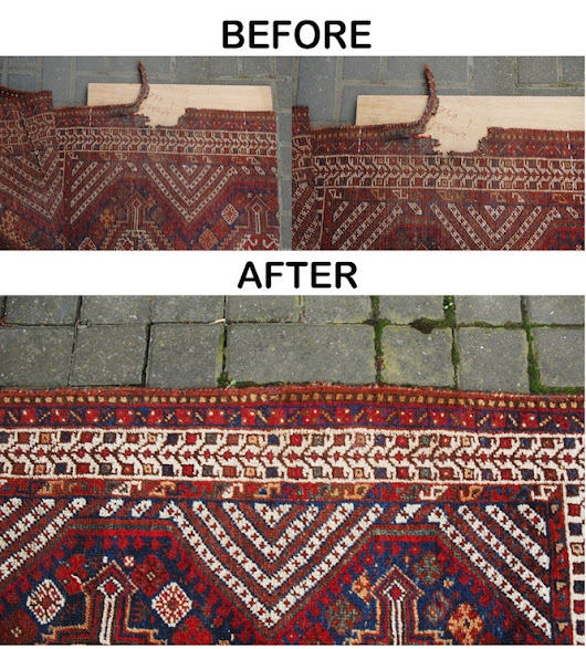Antique rug restoration - Sharafi and co