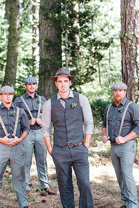 rustic groom attire  country weddings weddingness