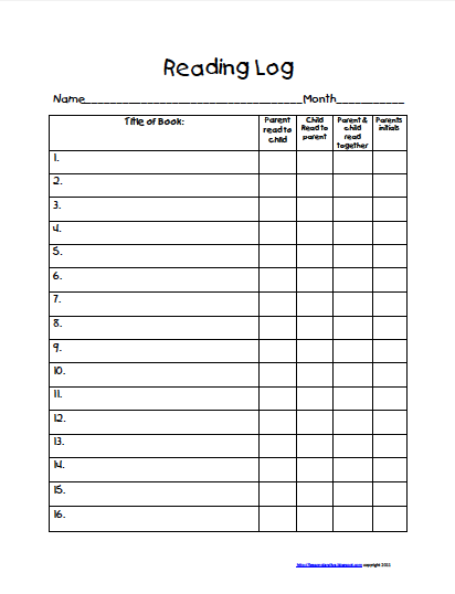 Freebie! Take home reading log! | To be, Home reading log and The ...