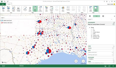 excel power map    maptitude  mappoint