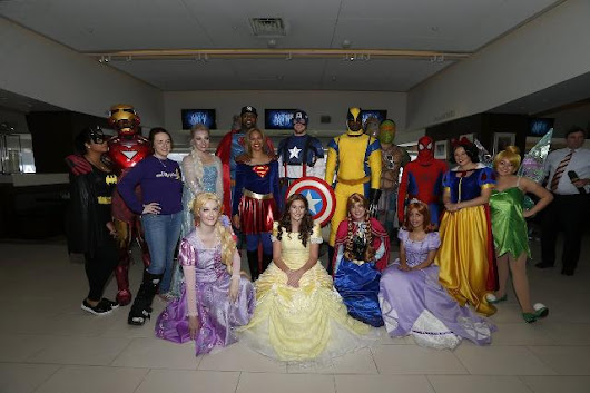The Yankees dressed up as superheroes for kids on HOPE Week