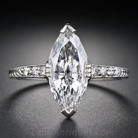 1.41 Carat Art Deco Marquise Diamond Engagement Ring
