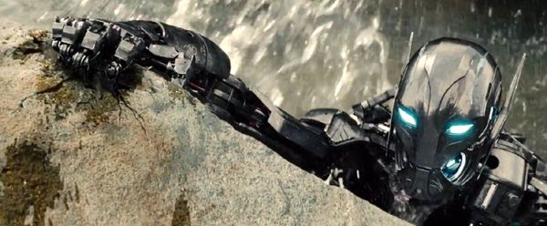 One of Ultron's minions goes on the attack in 2015's AVENGERS: AGE OF ULTRON.