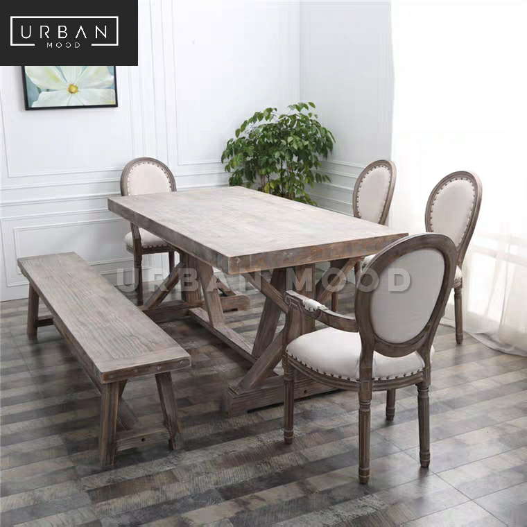 Rossa Vintage Distressed Dining Table Chairs Urban Mood