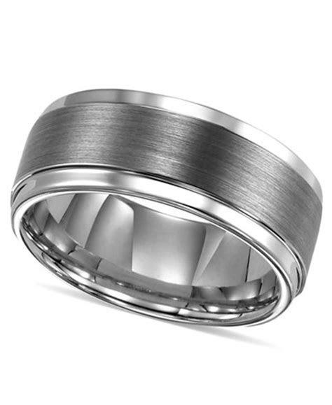 Triton Men's Ring, Tungsten Carbide Comfort Fit Wedding