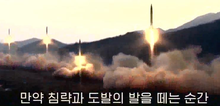 Tela 2017 04 27 em 9.50.48 AM - (VÍDEO) Coréia do Norte libera o vídeo novo com os porta-aviões dos EU que explodem & a casa branca no Crosshairs