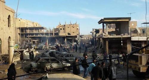 Raids de la Coalition internationale contre Raqqa