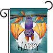 13 x 18 1/2 in. Happy Halloween Bat Garden Banner Dyed Sublimation, Double Sided