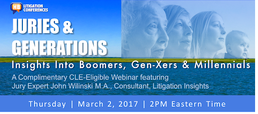 Juries & Generations Webinar | March 2, 2017