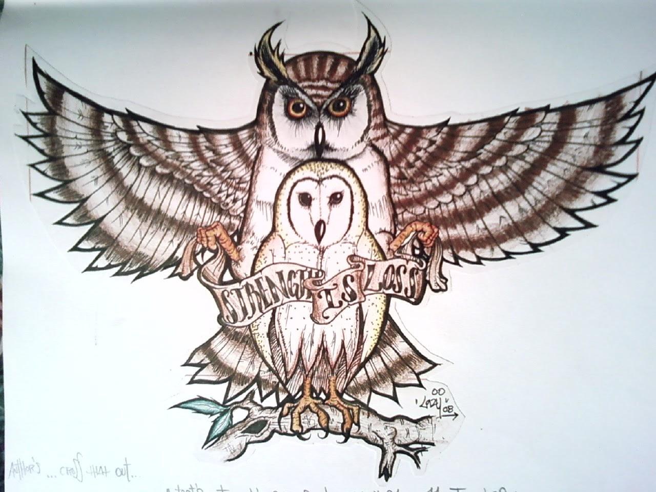 Barn Owl Tattoo Sketch Tattoos Designs Ideas