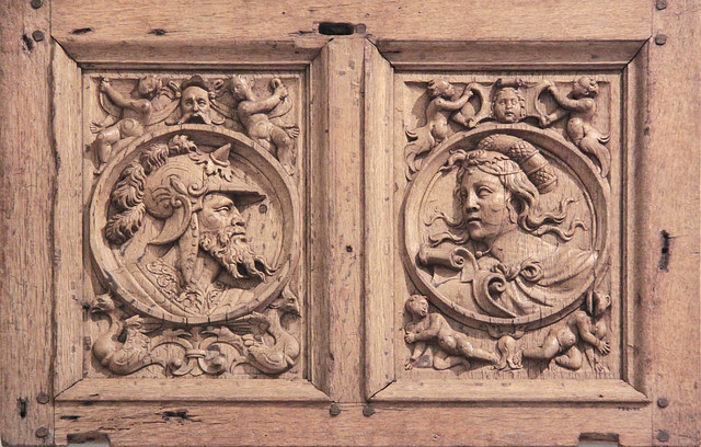 Panel, possibly from a cupboard, about 1540-1600, probably northern France