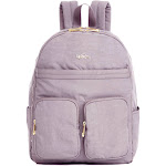 "Kipling Tina Large 15"" Laptop Backpack Antique Rose Combo Crinkle nylon with patent vegan trim"