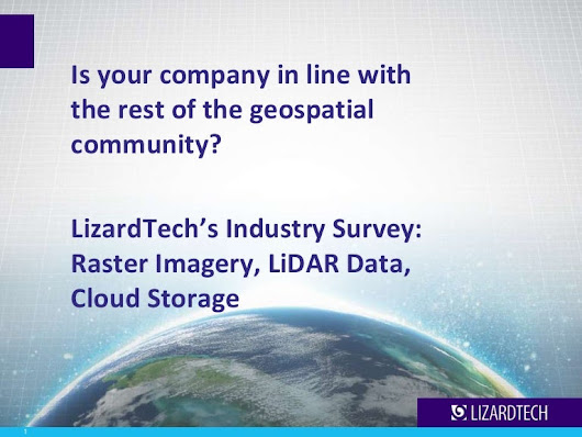 LizardTech Industry Survey Results: Raster Imagery and LiDAR Data cha…
