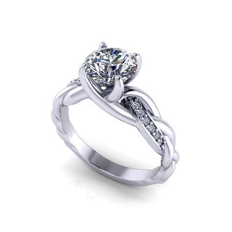 Braided Diamond Engagement Ring   Jewelry Designs