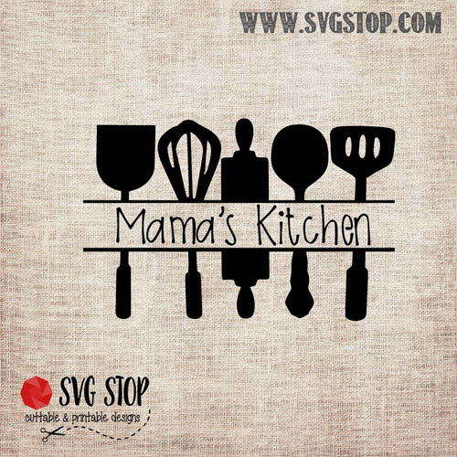 Kitchen Utensils Cut File | The SVG Stop
