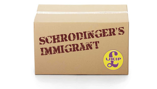 UKIP warns of Schrödinger's immigrant who 'lazes around on benefits whilst simultaneously stealing your job'