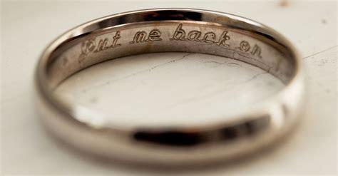10 Cheeky Wedding Ring Engravings That Speak Volumes