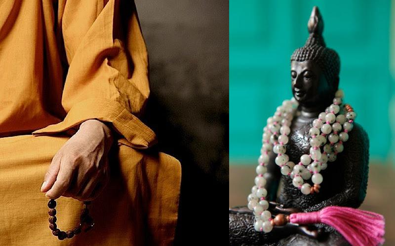 Resultado de imagem para japamala budista rezando