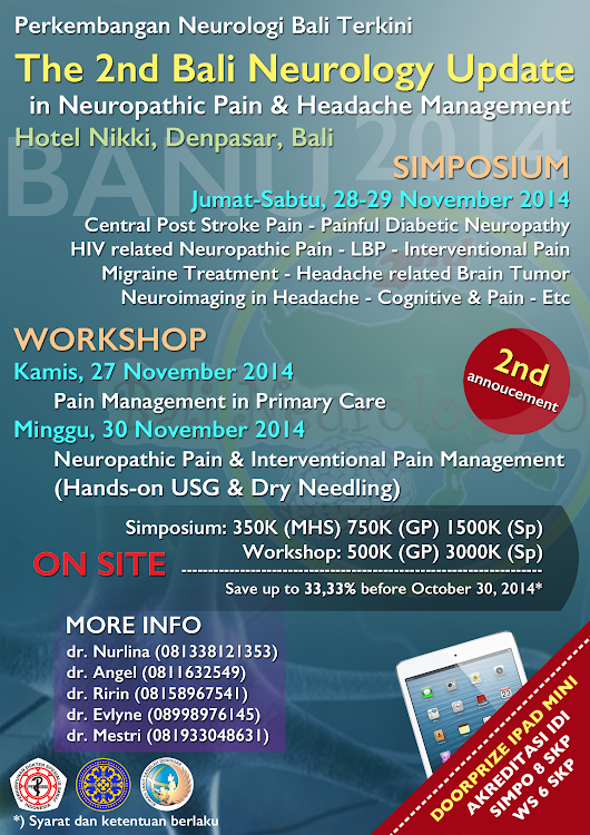 2nd Bali Neurology Update (BANU) in Neuropathic Pain & Headache