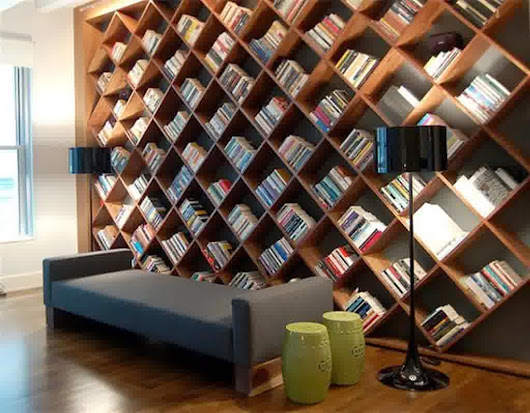 Modern Home Library Design With Useful Storage Bench Furniture | Amazing Home Design