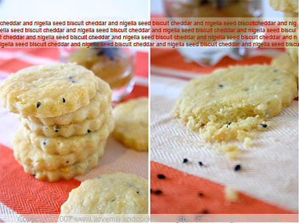 Cheddar and Nigella Seed Biscuits with Spiced Green Apple