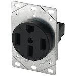 Cooper Wiring Devices Flush Mount Range Receptacle Oven Stove Outlet 50A 125/250V NEMA 14-50R 14-50 1258