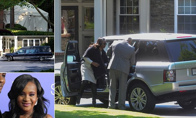 Bobbi Kristina Brown's family gather at hospice after police and a lawyer arrive