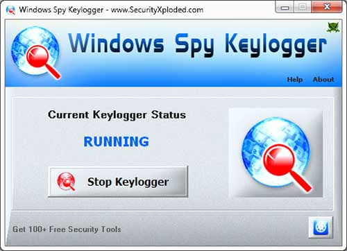 Windows Spy Keylogger Tool : Free Software to Log Keystrokes in Stealth Mode for 32-bit/64-bit processes on Windows XP/Vista/7/8/10 |