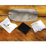 Walleteras - RFID Travel Bundle - Money Belt and Front Pocket Wallet. Black