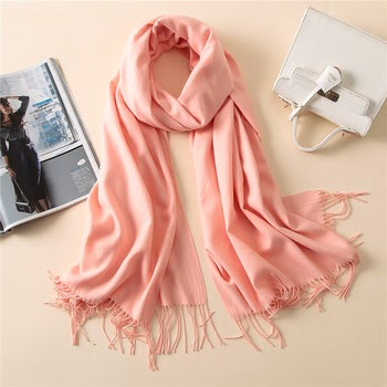 Apparel Accessories Hot Sale F&u Organza Embroidered Geometric Double Colors Long Soft Light Scarf Wrap Shawl Fashion For Women In Winter 6 Colors Available