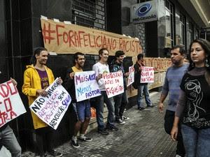Protesto realizado na cidade de Florianópolis, SC.   (Foto: Eduardo Valente/Futura Press/Estadão Conteúdo)