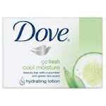 Dove Go Fresh Cool Moisture Beauty Bar Soap With Cucumber And Green Tea Scent - 4.25 Oz Ea, 4 Pack