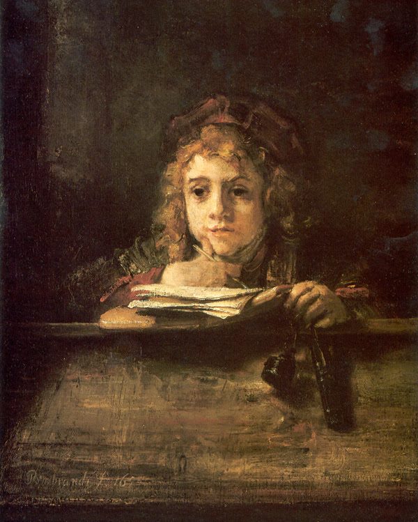 Rembrandts Sohn Titus am Schreibpult