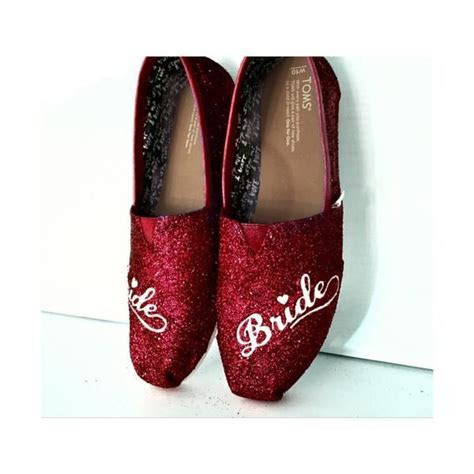 Womens Sparkly Glitter Toms Flats shoes bridal Bride