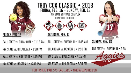 NM State Hosts Troy Cox Classic: New Mexico State, Ball State, Boston University, and No. 1 Oklahoma...