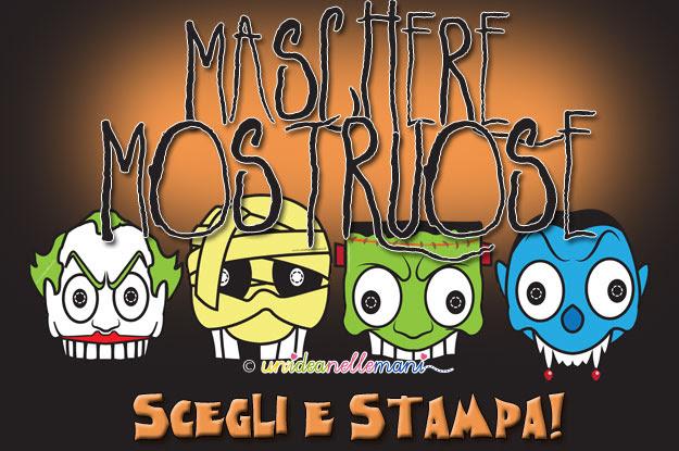 Halloween Fai Da Te 8 Maschere Mostruose Da Stampare E Da Colorare